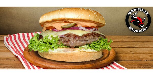 Sleva 40 % na Big mad bull Burger