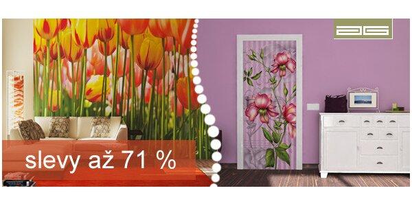 Velkoplošné květinové tapety české výroby