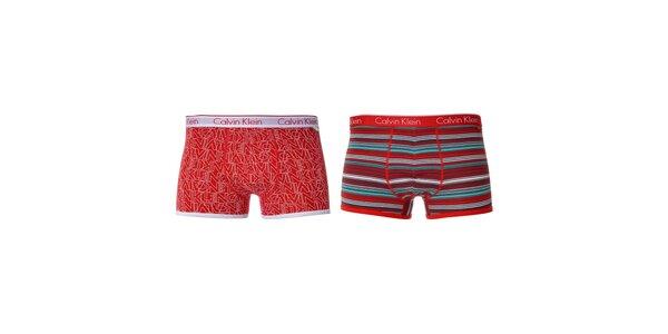 Sada boxerek značky Calvin Klein v červené barvě