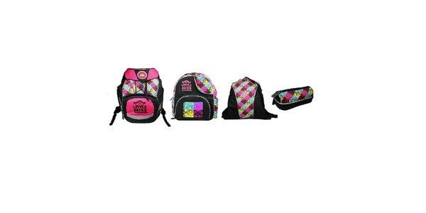 SET MISS SUNSHINE 3-5 třída (Školní batoh+Dětský batoh+Sportovní vak+Pouzdro)