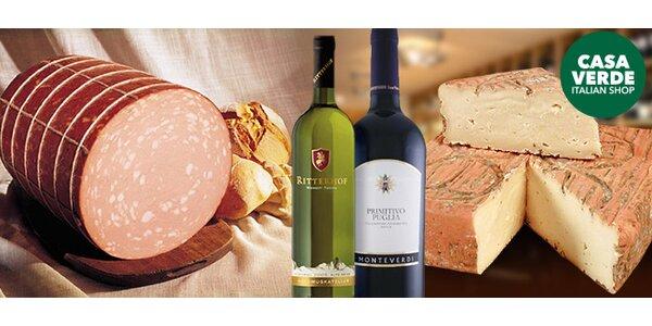 Italské delikatesy ve speciálně připravených balíčcích
