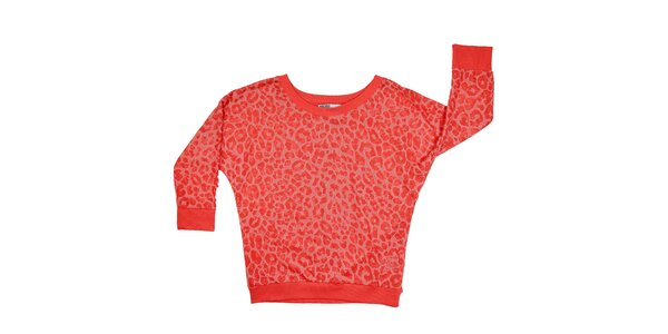 Dámská červená leopardí mikina Urban Surface