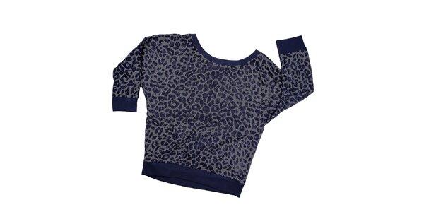 Dámská indigová leopardí mikina Urban Surface