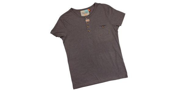Pánské šedé tričko s náprsní kapsou Urban Surface