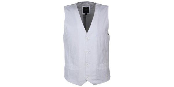 Pánská bílá vesta Sublevel