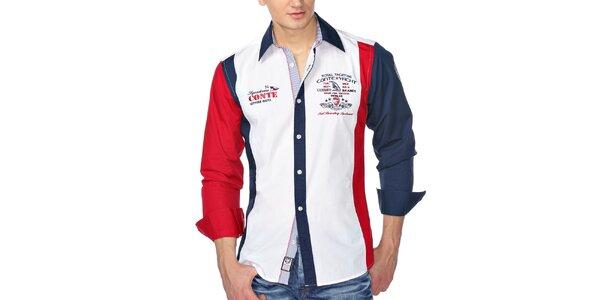 Pánská barevná košile s výšivkami M. Conte