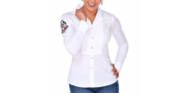 Dámská bílá košile s dlouhým rukávem M. Conte