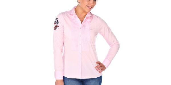 Dámská světle růžová košile s dlouhým rukávem M. Conte