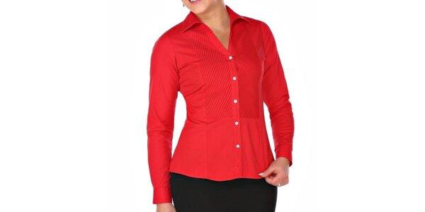 Dámská červená košile s plisováním M. Conte
