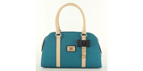 Dámská modrá kabelka s mašličkou Pierre Cardin