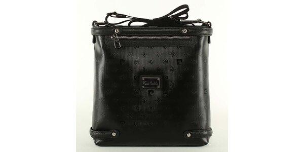 Dámská černá kabelka s ramenním popruhem Pierre Cardin