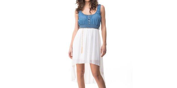 Dámské modro-bílé šaty Sixie