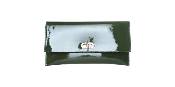 Dámské tmavě zelené lakované psaníčko Made in Italia