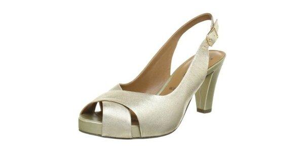 Dámské boty v barvě šampaň Clarks