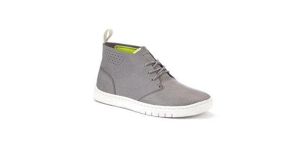 Pánské šedé kotníkové boty Clarks