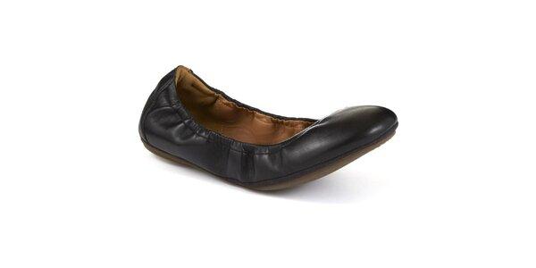 Dámské černé kožené balerínky Clarks