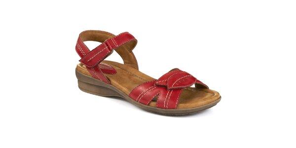 Dámské červené sandály s lístky Clarks