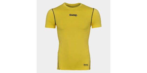 Pánské žluté kompresní tričko Sweep