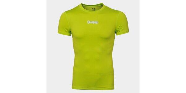 Pánské zelené tričko s nápisem Sweep