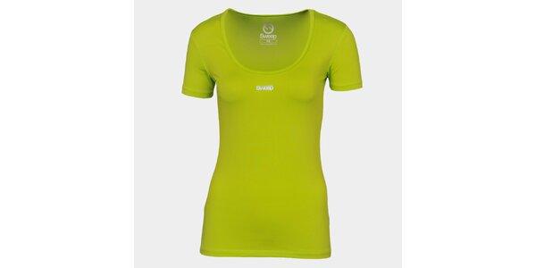 Dámské neonově zelené tričko se značkou Sweep