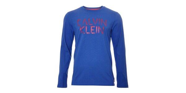 Pánské triko Calvin Klein v sytě modré barvě