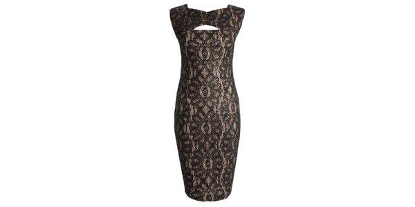 Dámské černé šaty s průstřihem CeMe London
