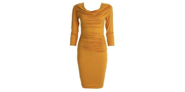 Dámské šafránově žluté šaty s vodou CeMe London