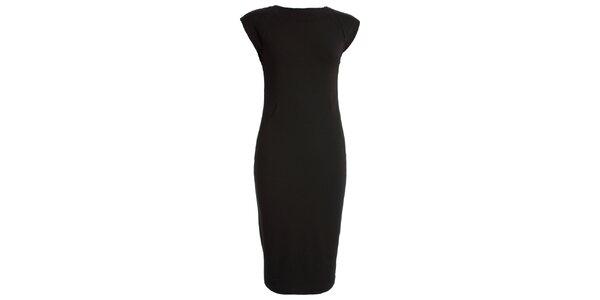 Dámské černé šaty s krátkým rukávem CeMe London