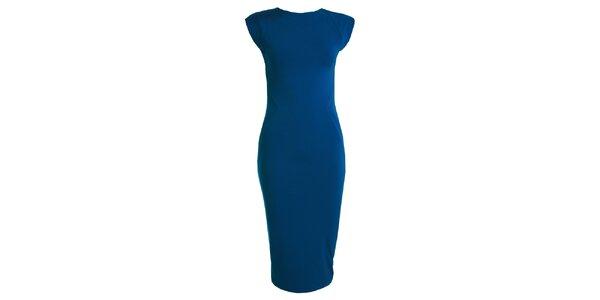 Dámské modré šaty s krátkým rukávem CeMe London