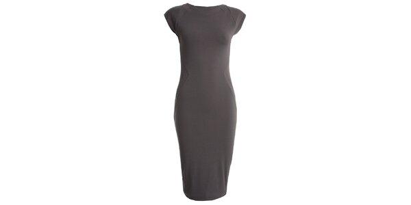 Dámské šedé šaty s krátkým rukávem CeMe London