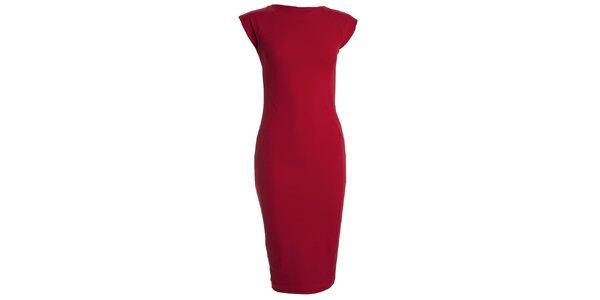 Dámské červené šaty s krátkým rukávem CeMe London