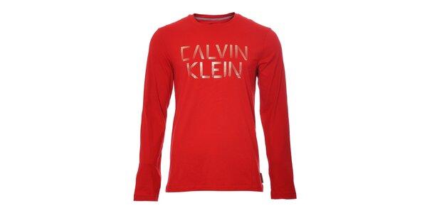 Pánské triko Calvin Klein v červené barvě
