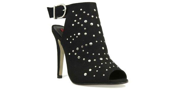 Dámské černé boty se cvočky London Rebel
