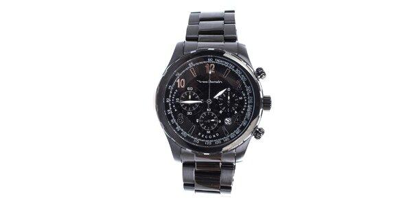 Pánské hodinky v černé barvě Yves Bertelin