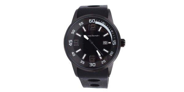 Pánské černé hodinky Yves Bertelin