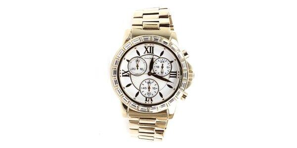 Dámské zlaté hodinky s římskými číslicemi Yves Bertelin