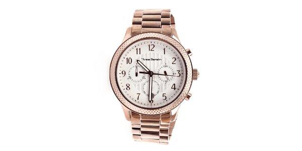 Pánské hodinky s efektem růžového zlata Yves Bertelin