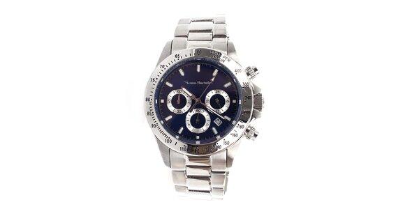 Pánské hodinky z nerezové oceli s tmavě modrým ciferníkem Yves Bertelin