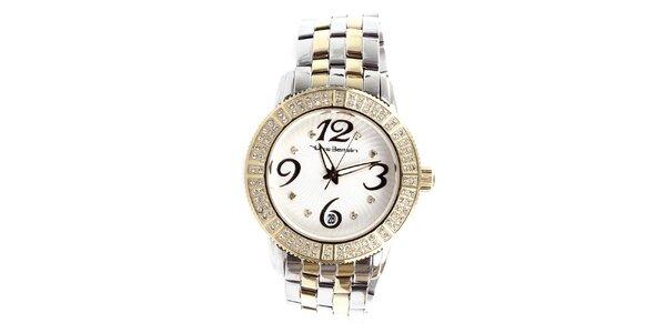 Dámské ocelové hodinky s kamínky Yves Bertelin