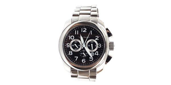 Pánské ocelové hodinky s chronografem a datumovkou Yves Bertelin
