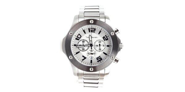 Pánské stříbrné hodinky z nerezové oceli Yves Bertelin