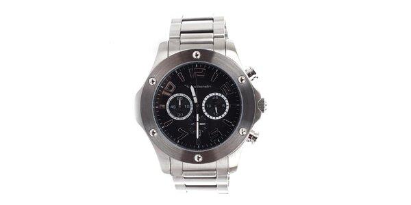 Pánské kulaté hodinky s chronografem Yves Bertelin