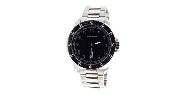 Pánské stříbrno-černé hodinky Yves Bertelin
