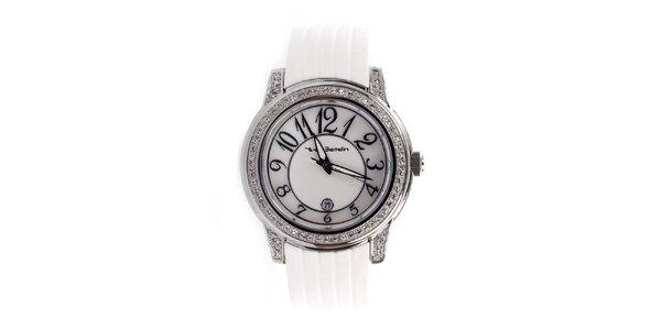 Dámské analogové hodinky s bílým páskem Yves Bertelin