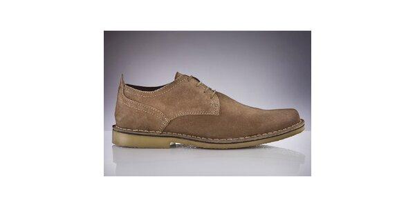 Pánské světle hnědé semišové boty Roamers