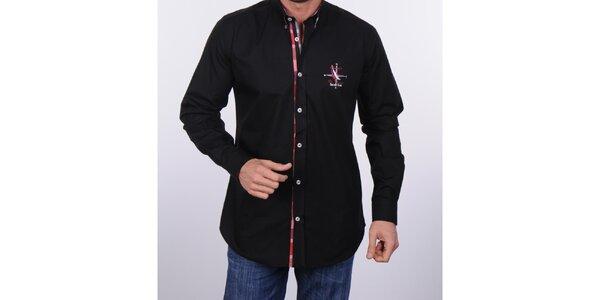 Pánská černá košile Giorgio di Mare