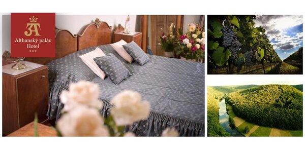 2850 Kč za třídenní pobyt v Althanském paláci pro dva ve Znojmě.