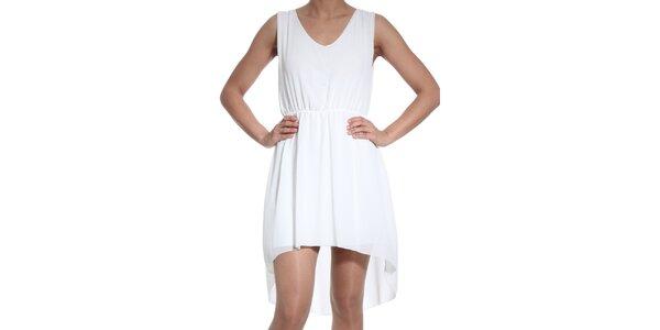 Dámské bílé asymetrické šaty SforStyle