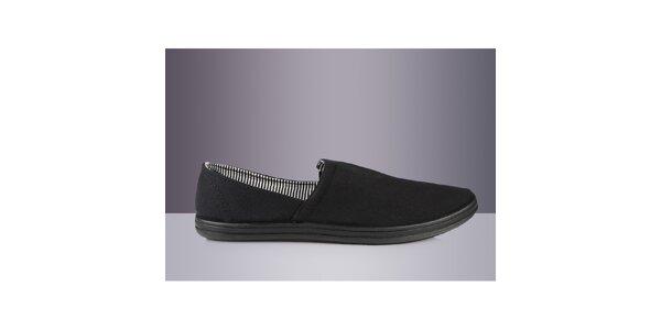 Pánská černá textilní obuv DEK