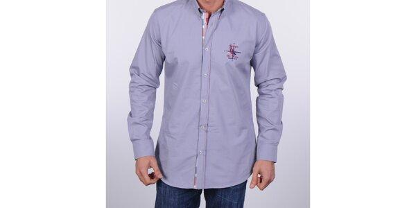 4a6c5961904 Pánská šedomodrá košile Giorgio di Mare